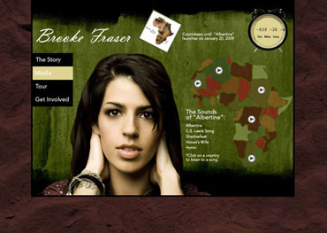 Brooke Fraser 'Albertine' Website